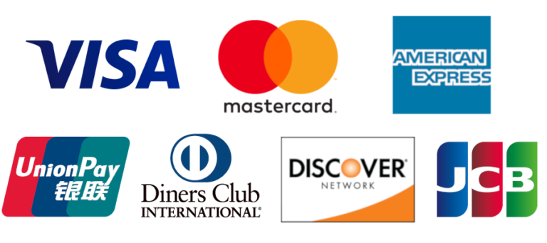 Accept these credit cards with Clearly Payments merchant account.