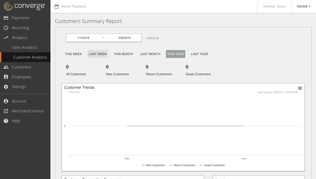 Customer summary report in Clearly Payments