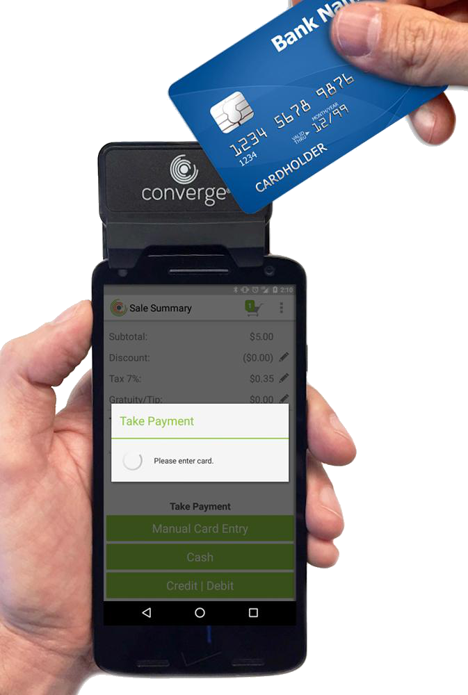 Mobile payments with swiper Ingenico RP457c by Clearly Payments