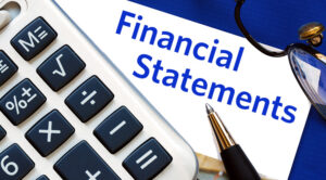 Financial statements for credit card processing