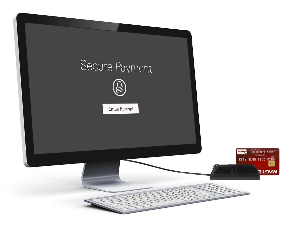 Virtual terminal with credit card swiper