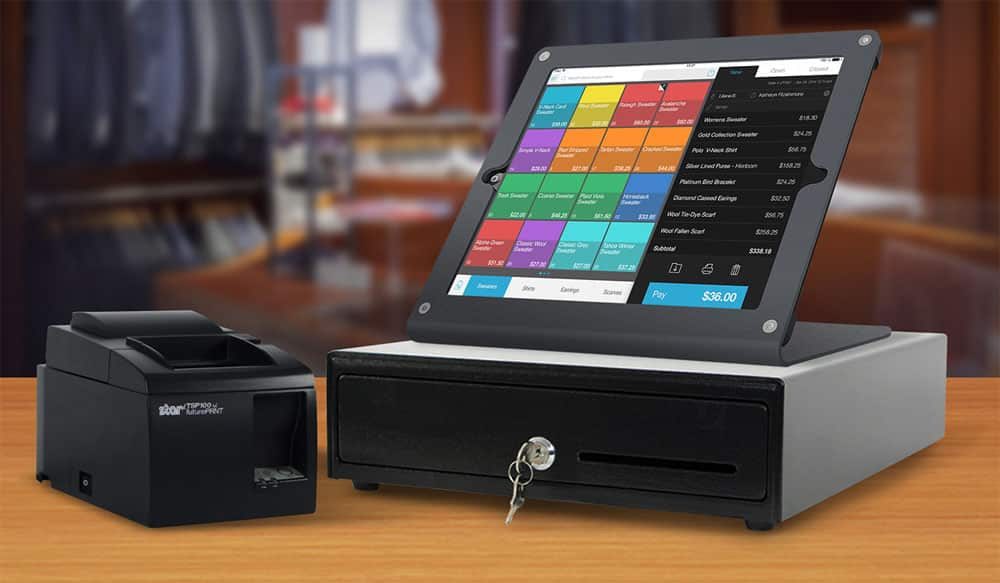 Talech has cash drawers and receipt printers integrated