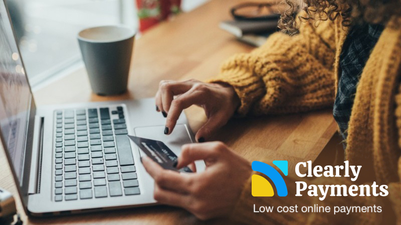 Low cost online payment processing with Clearly Payments