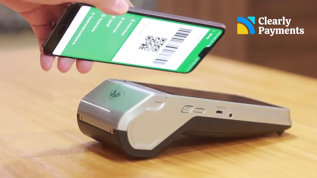 Newland credit card machine with clearly payments